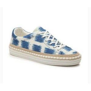 Sam Edelman Blue & White Kavi Sneaker, size 7.5